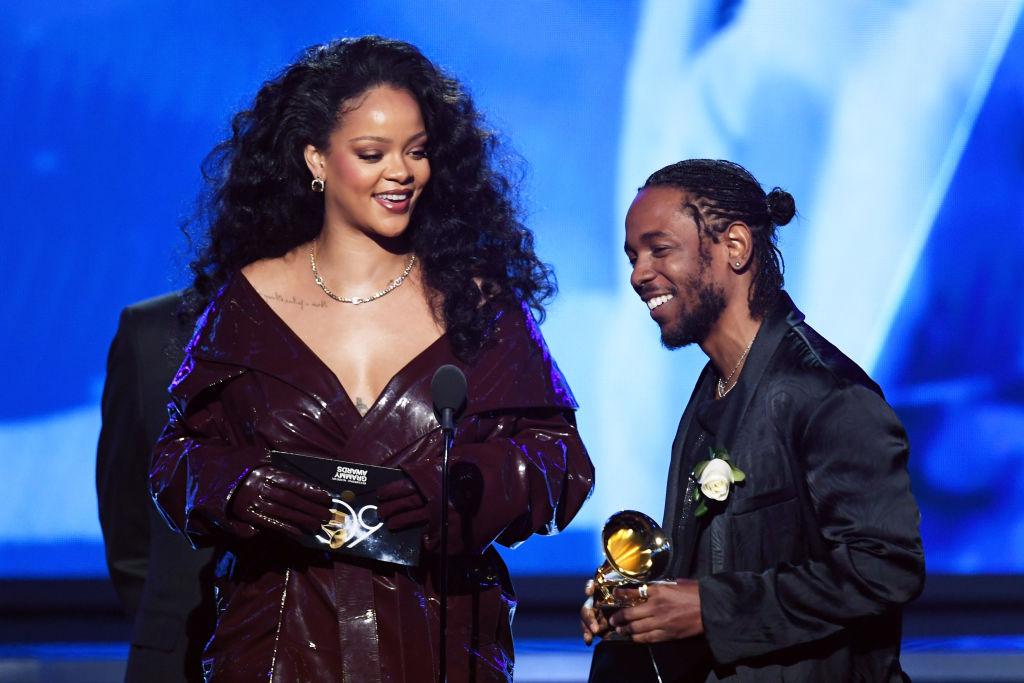 Rihanna e Kendrick Lamar no GRAMMY Awards 2018