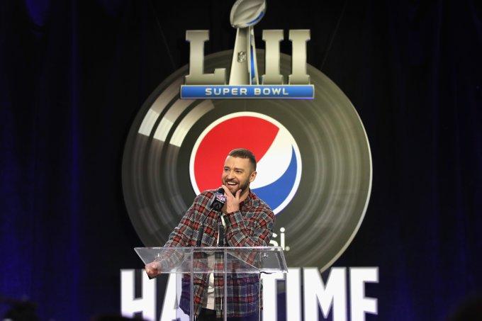 Justin Timberlake será o responsável por se apresentar no Show do Intervalo do Super Bowl 2018