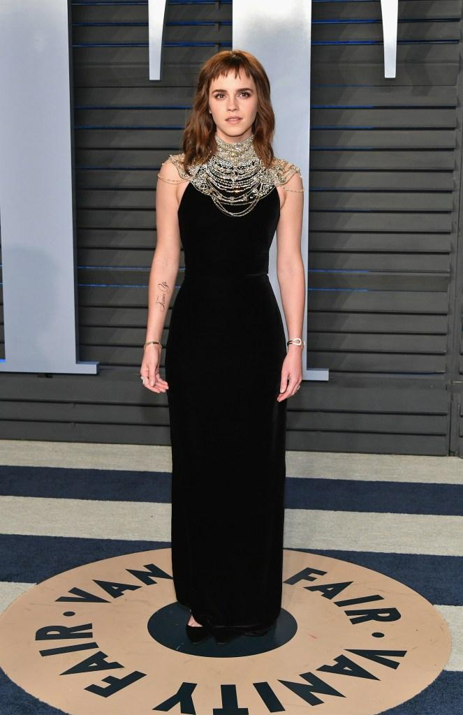 Emma Watson em festa pós Oscar 2018