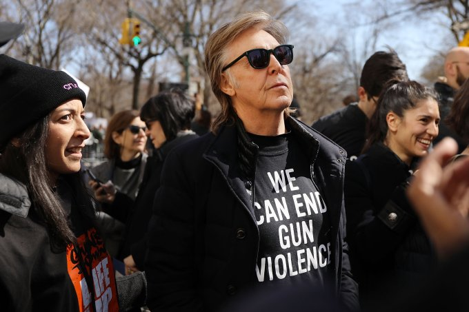 Paul McCartney na March for Our Lives