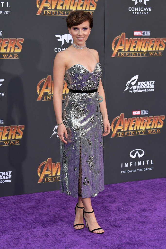 Scarlett Johansson na pré-estreia de