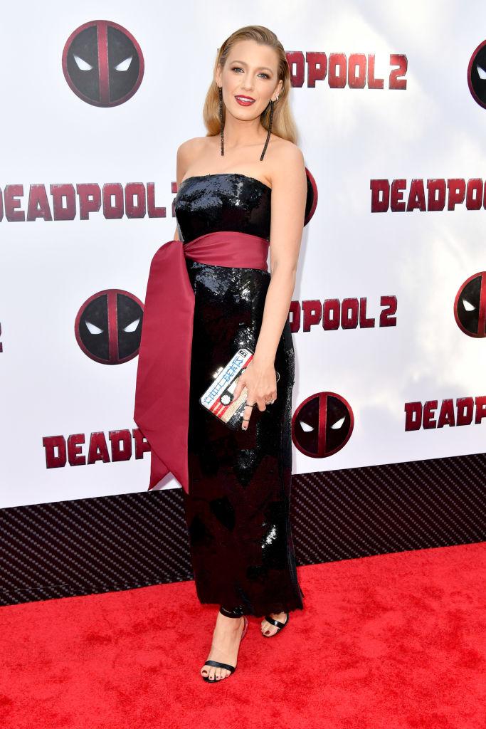 Blake Lively na estreia de Deadpool 2