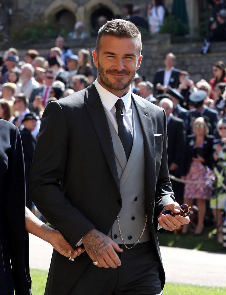 David Beckham Casamento real Príncipe Harry e Meghan Markle