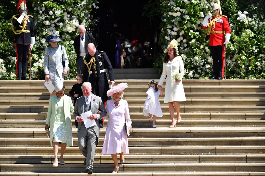 Doria Ragland, Princípe Charles, Camilla, Príncipe William, Príncipe George, Kate Middleton e Princesa Charlotte