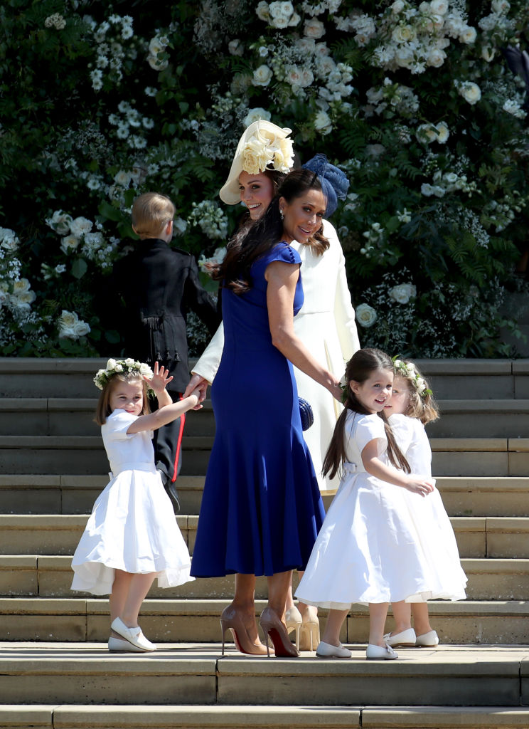 Princesa Charlotte de Cambridge, Príncipe George de Cambridge, Catherine, Kate Middleton, Jessica Mulroney, Ivy Mulroney e Florence van Cutsem