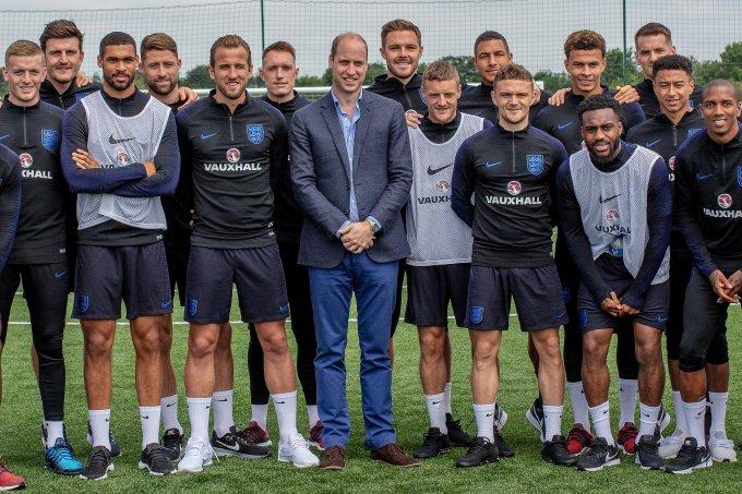 Príncipe William e Seleção da Inglaterra Copa do Mundo 2018