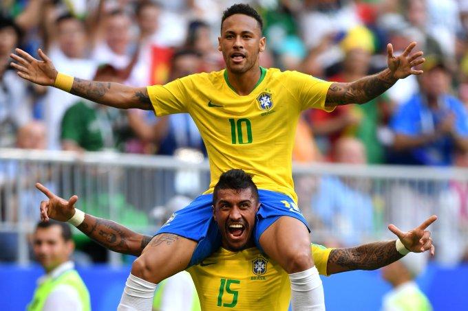 Neymar e Paulinho COpa do Mundo