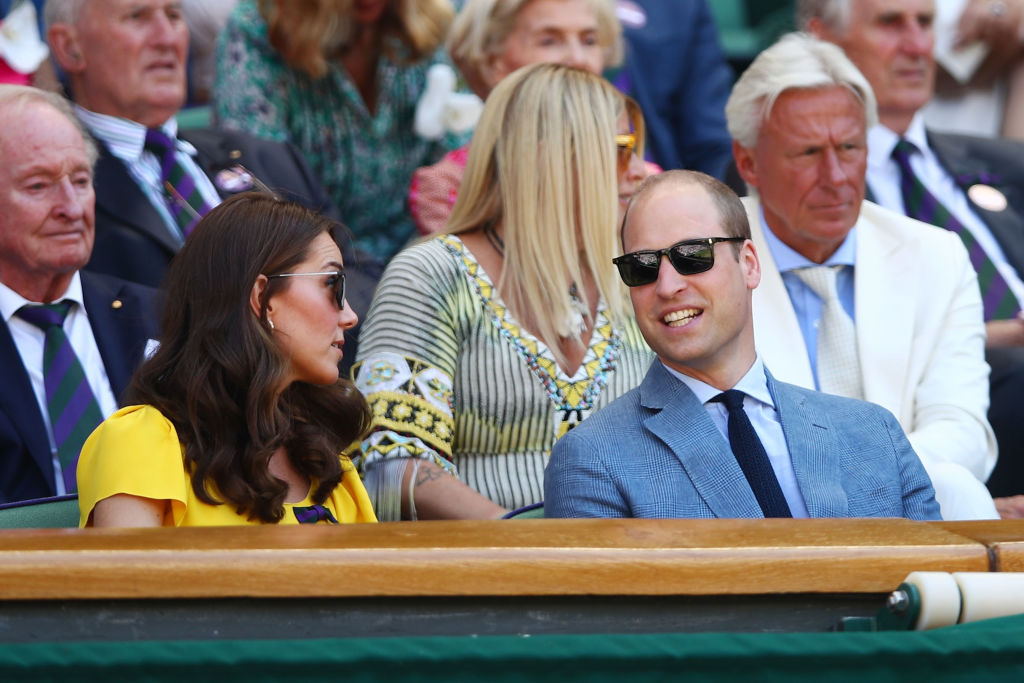 Kate Middleton, Duquesa de Cambridge, e Príncipe William em Wimbledon