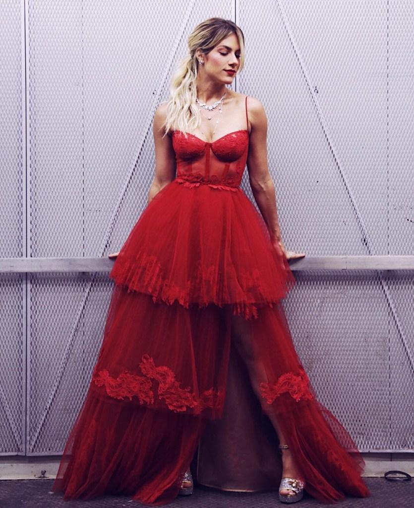 giovanna ewbank vestido sexy vermelho