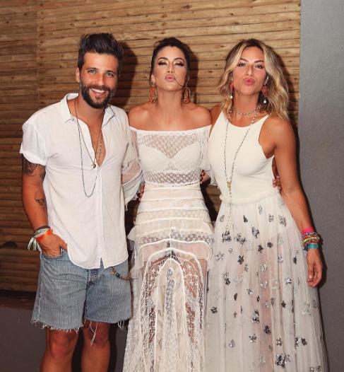 Bruno Gagliasso, Camila Coelho e Giovanna Ewbank