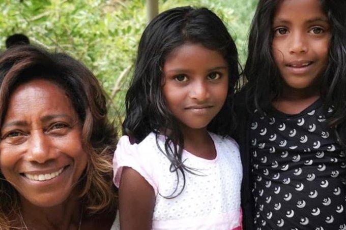 Glória Maria e as filhas