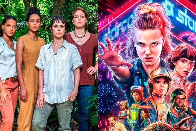 Séries Globoplay e Netflix