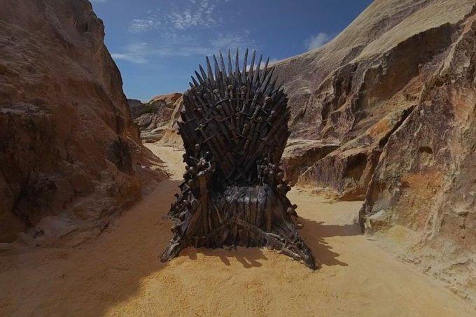 Trono de Ferro de Game of Thrones encontrado no Ceará