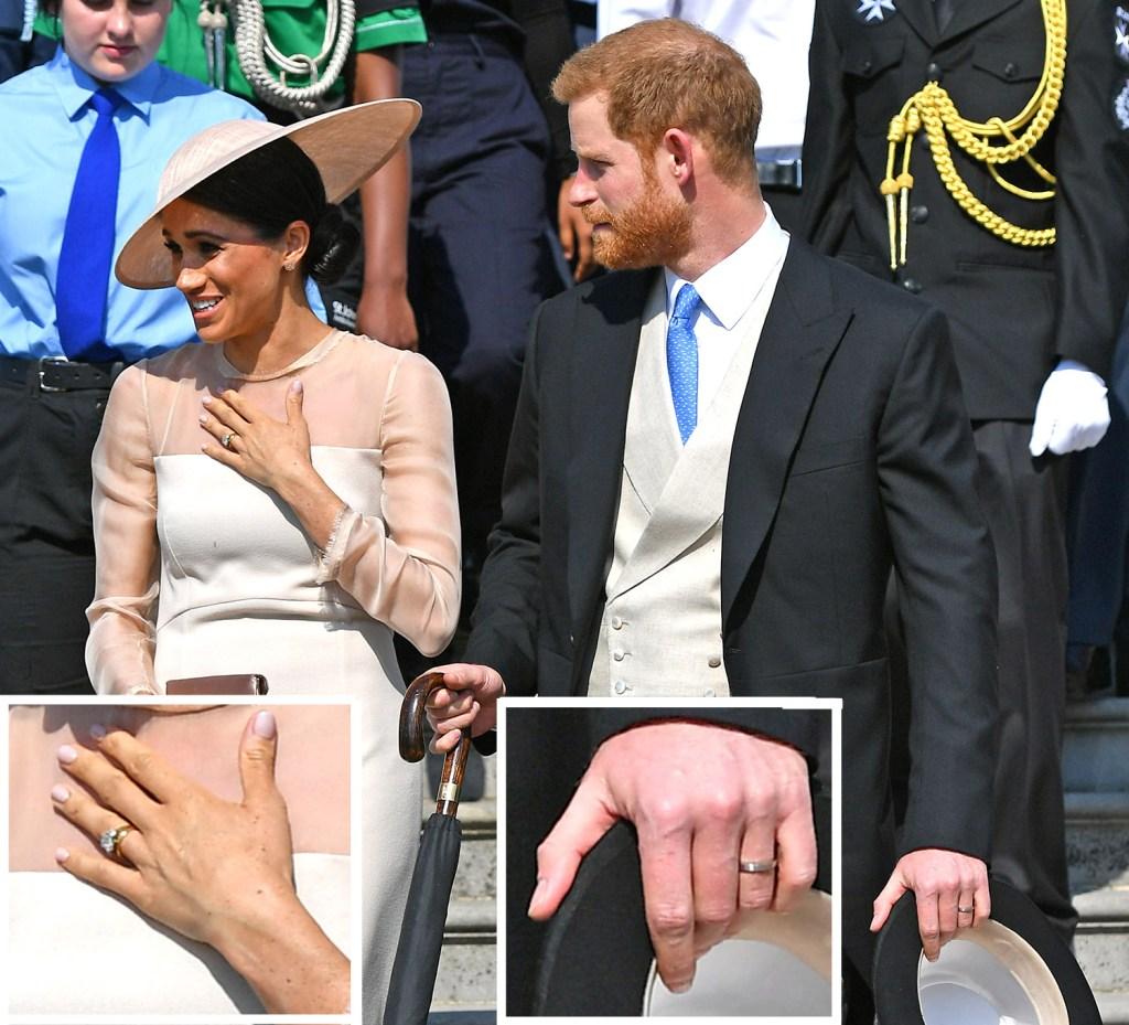 Harry e Meghan com aliança