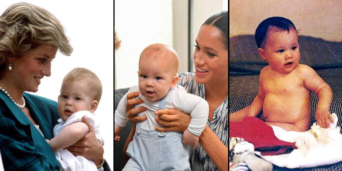 Principe Harry e Archie e Meghan Markle Lado a Lado