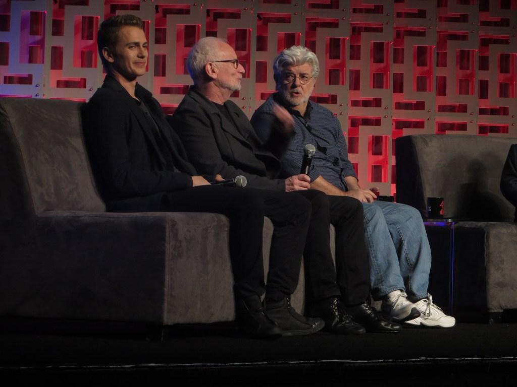Hayden Christensen Ian McDiarmid George Lucas Star Wars Celebration orlando