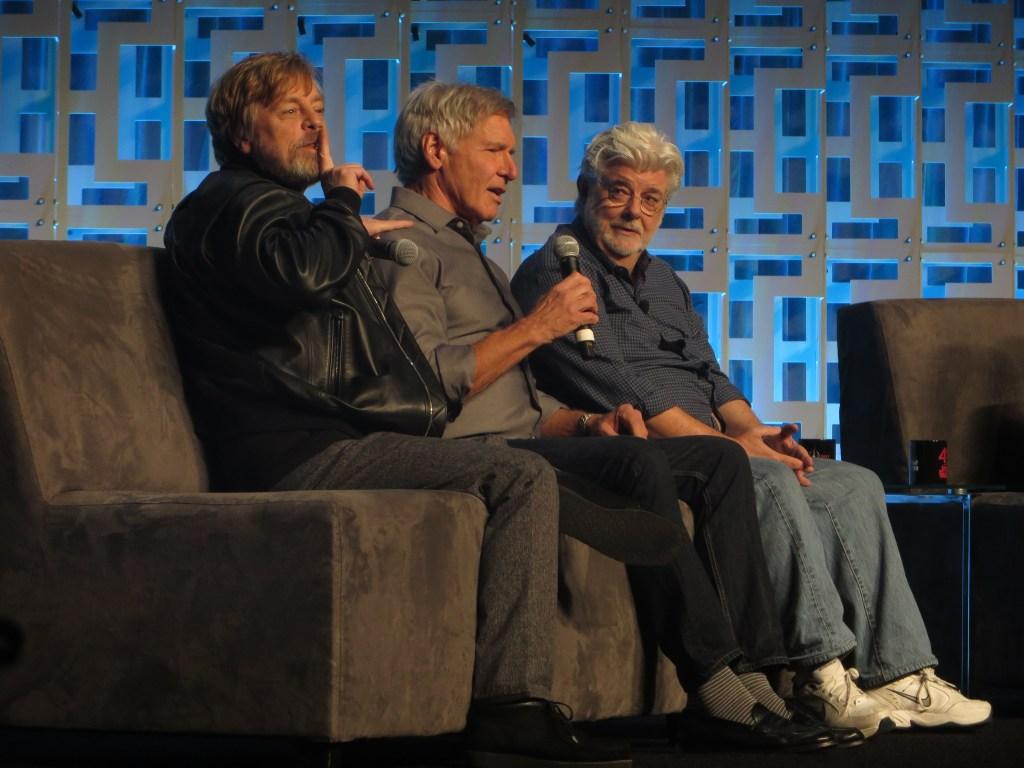 Mark Hamill Harrison Ford George Lucas