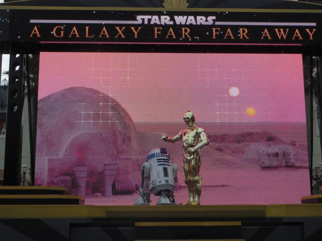 A Galaxy far far away star wars disney
