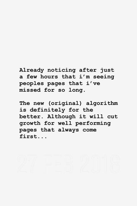 Ordem cronológica do Instagram