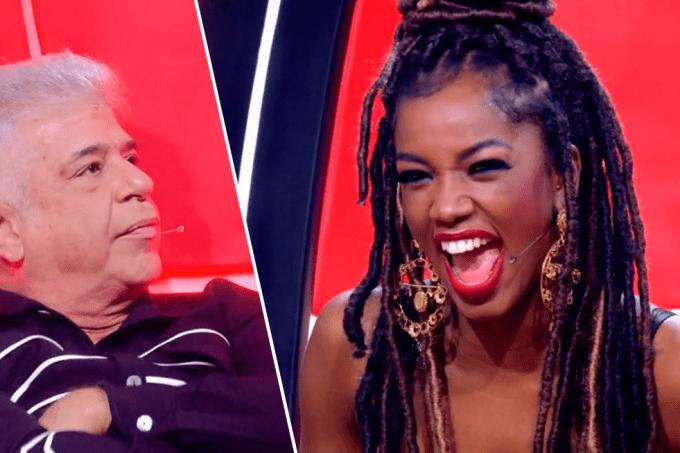 Iza bloqueia Lulu Santos no The Voice Brasil