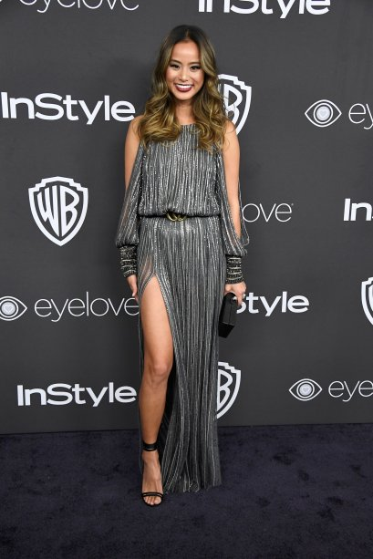 <strong>Jamie Chung</strong> veste<strong> Amanda Wakeley</strong>.