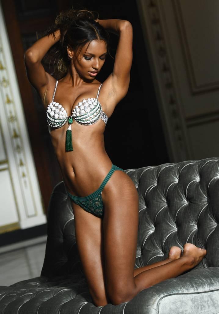 Jasmine Tookes Fantasy Bra Victoria's Secret