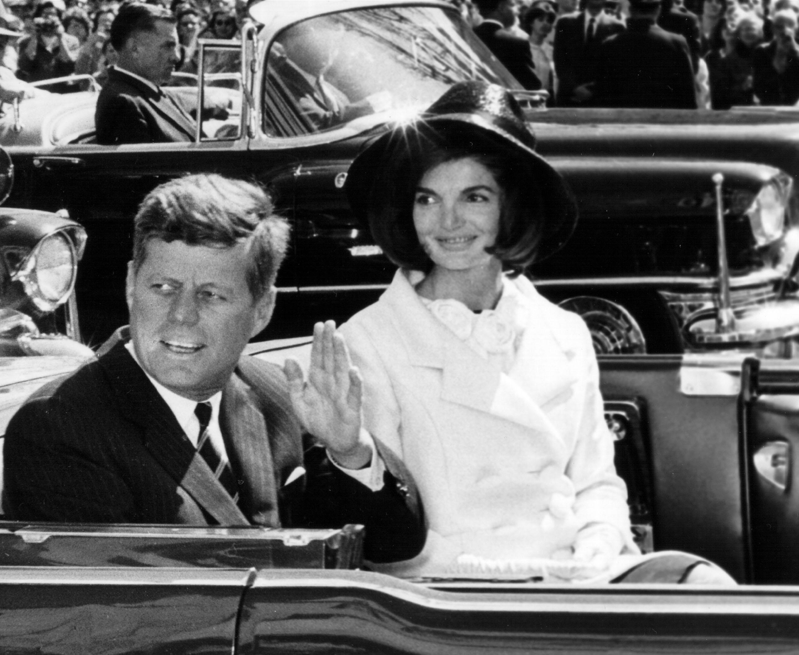 John F. Kennedy, o JFK, e Jackie Kennedy
