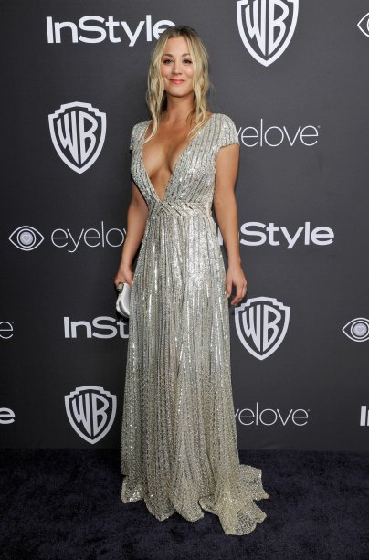 <strong>Kaley Cuoco</strong> veste <strong>Tommy Hilfiger</strong>.