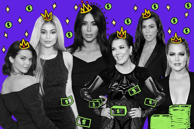 de onde vem toda a fama e riqueza das Kardashian/Jenner