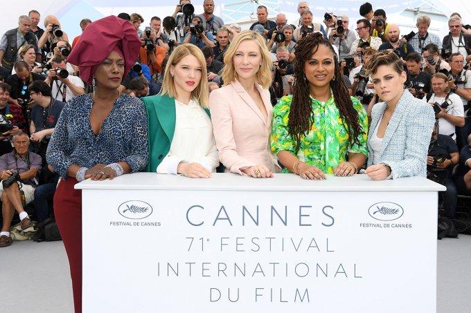 Khadja Nin, Lea Seydoux, Jury head Cate Blanchett, Ava DuVernay and Kristen Stewart