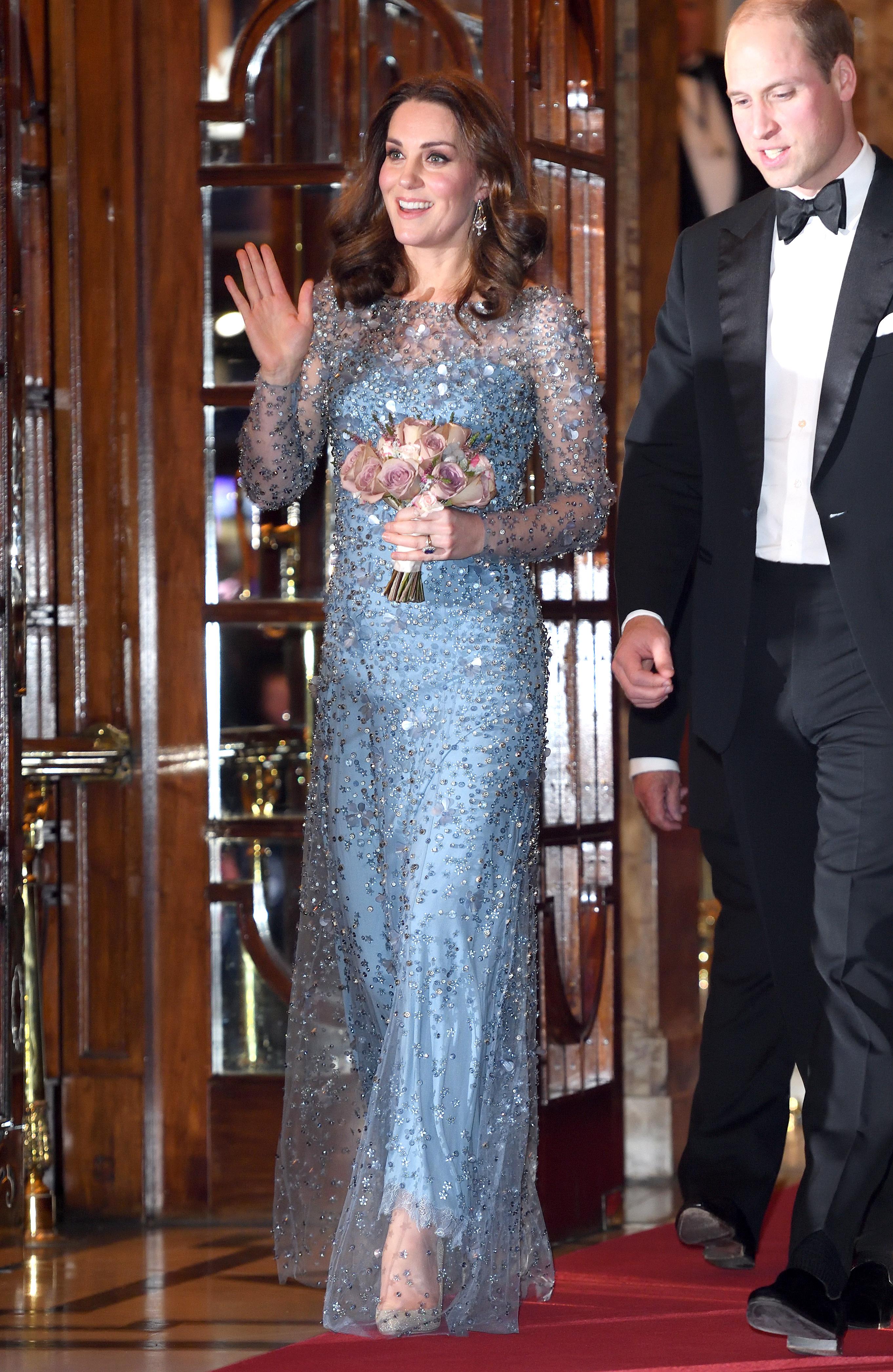 Kate Middleton com o vestido da Elsa de Frozen