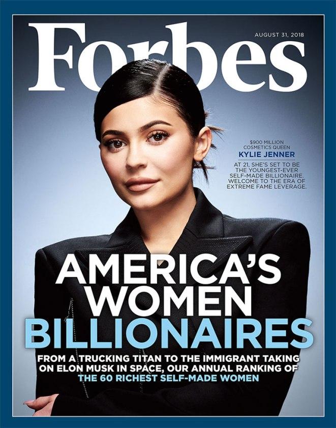 Kylie Jenner capa da Forbes