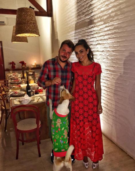 Lalá Noleto apostou nas rendas artesanais para seu Natal intimista com o marido Diego Sala