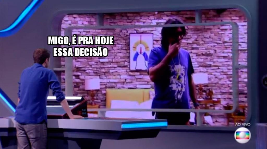Tiago cobra Ilmar BBB17
