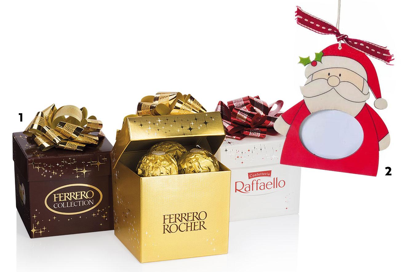 Caixas de bombons Ferrero Rocher e enfeite de Natal para pendurar na árvore - ideias de lembracinhas de Natal