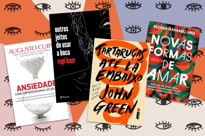 Destaque: livros para presentear neste Natal; quatro capas de livros diferentes