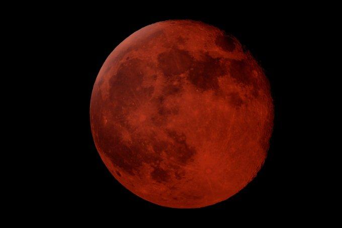 Lua de sangue eclipse lunar