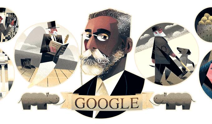 Machado de Assis ganha Doodle do Google