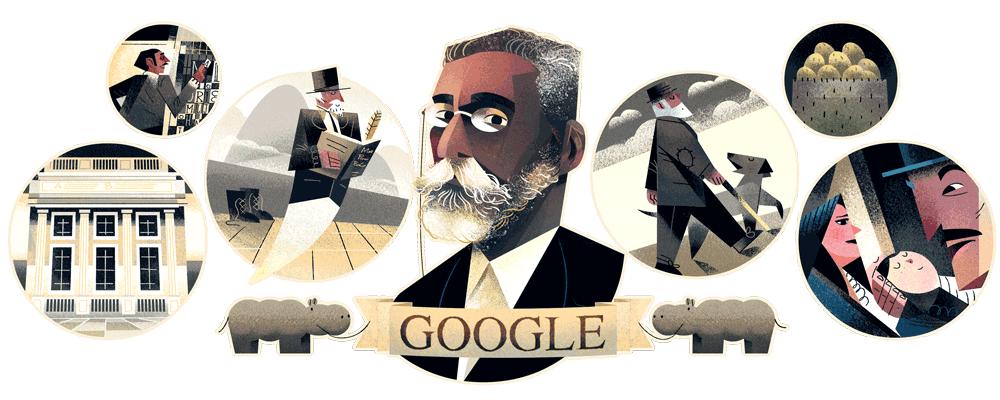 Doodle do Google homenageia Machado de Assis