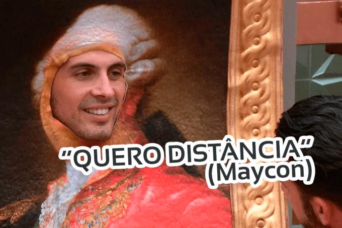 Maycon quer distância de Isabella no BBB19