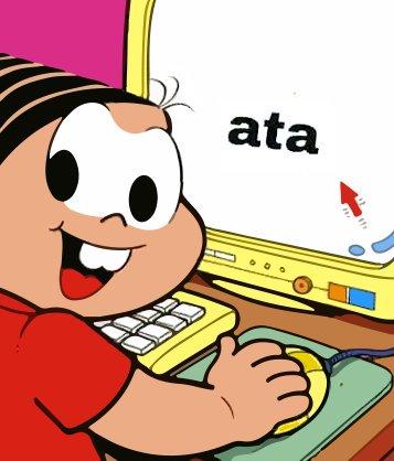 Meme da Mônica no computador