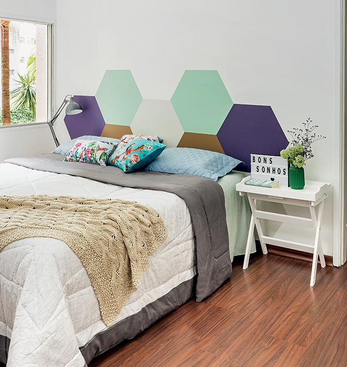 Tendência na decoração: 12 ideias para fazer pintura geométrica na parede |  CLAUDIA
