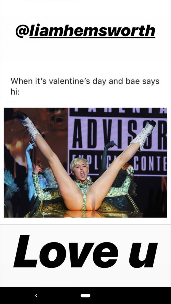 Miley Cyrus Valentines day