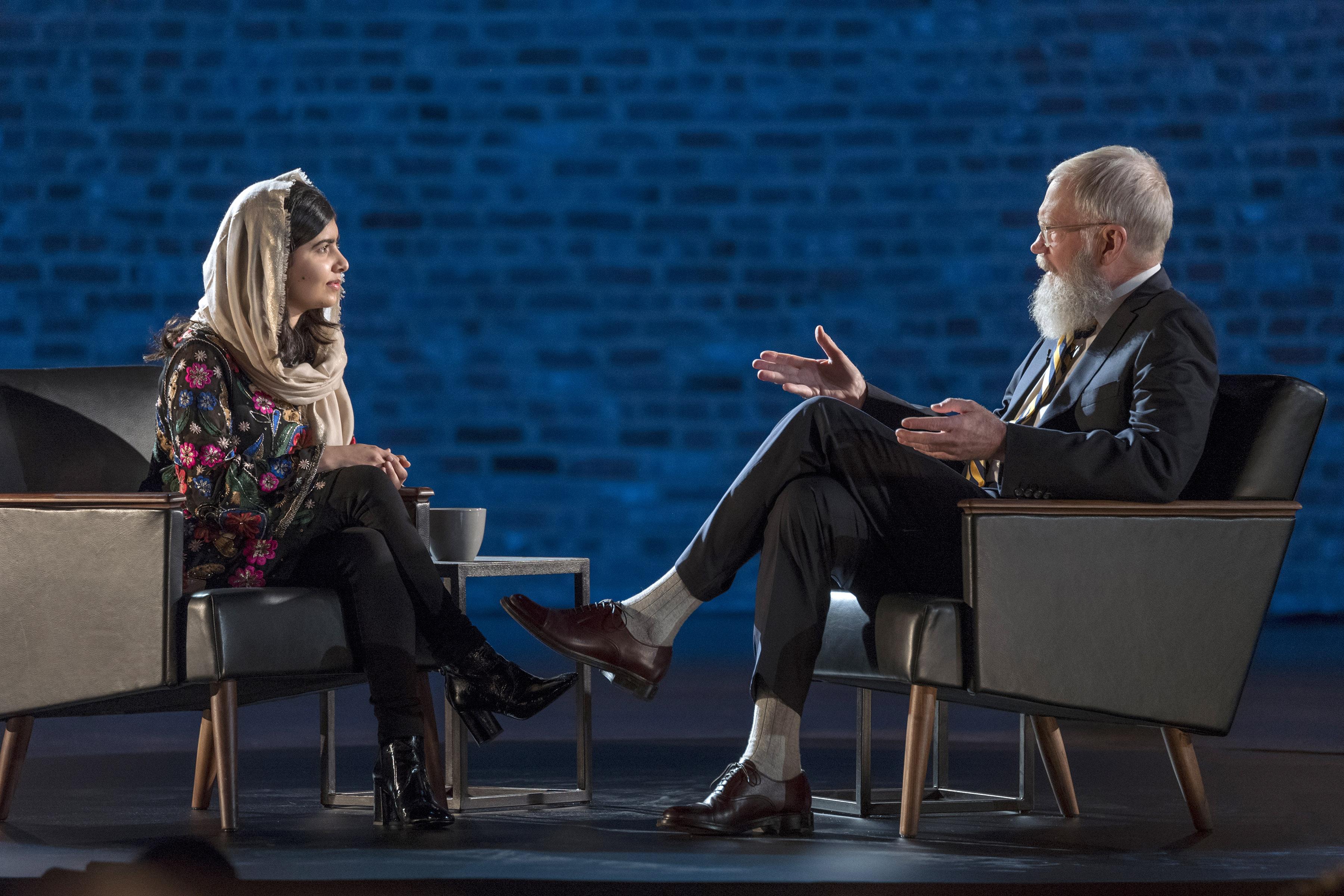 O Próximo Convidado Dispensa Apresentação com David Letterman: Malala Yousafzai