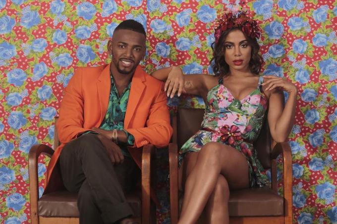 """Nego do Borel e Anitta durante gravação do clipe """"Você Partiu Meu Coração"""""""