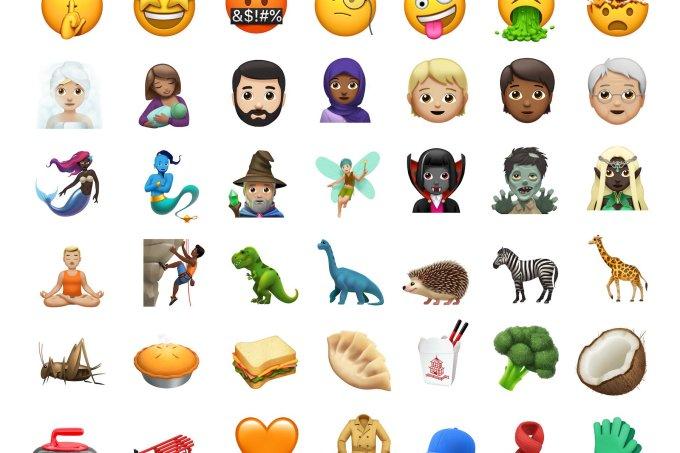 novos emojis iphone ios 11