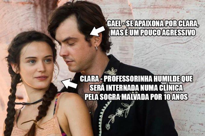Resumo O Outro Lado do Paraíso, Gael e Clara