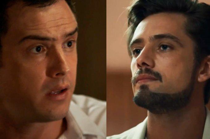 Resumo da novela O Outro Lado do Paraíso, Gael tenta salvar Tomaz de Renato