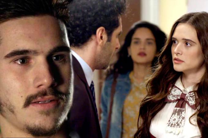 Resumo da novela O Tempo Não Para, Samuca vê Emílio com Marocas