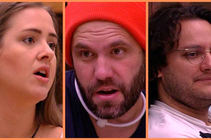 Patrícia, Caruso e Diego paredão BBB18